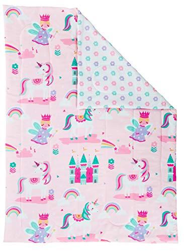 Bloomsbury Mill - 4 Piece Toddler Comforter Set - Magic Unicorn, Fairy Princess & Enchanted Castle - Pink - Kids Bedding Set 3