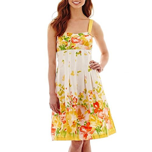 R&K Originals Sleeveless Print Fit-and-Flare Dress, used for sale  Delivered anywhere in USA