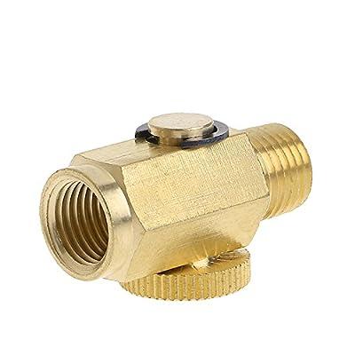 Bettal 1/4'' NPT Golden Solid Brass Compressed Air Pressure ValveInline Regulator Tool