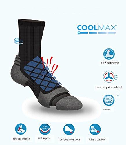 COOLMAX Unisex Quick Dry Athletic Crew Socks-5 Pairs (Medium, CMF8S) by COOLMAX (Image #1)