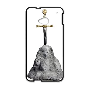 HTC One M7 Cell Phone Case Covers Black Sword in the Stone snfi