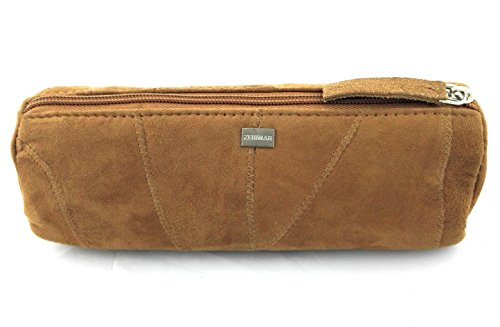 Zerimar Borsa da viaggio in pelle scamosciata Misure 20x6 cm Stile vintage 100% naturale