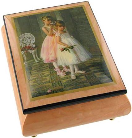 Lutèce Créations 8427608 - Caja Musical para Joyas/joyero Musical de Madera con Imagen de Bailarinas (Ref: 8427608) – Over The Rainbow (H. Arlen): Amazon.es: Hogar