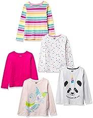 Spotted Zebra Girls' Toddler & Kids 4-Pack Long-Sleeve