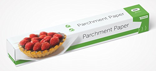Parchment Paper for Baking by Toovee with FREE Recipe Book | Quality Non-Stick Baking Paper Roll with Box and Cutter for Convenient ()