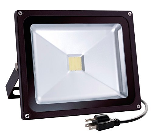 Wosen 30W LED Flood Light, Waterproof IP65, 2400lm, 5000K Daylight White, Super Bright Outdoor LED Flood Lights for Playground, Garage, Garden, Lawn and Yard Model No.PJ1002