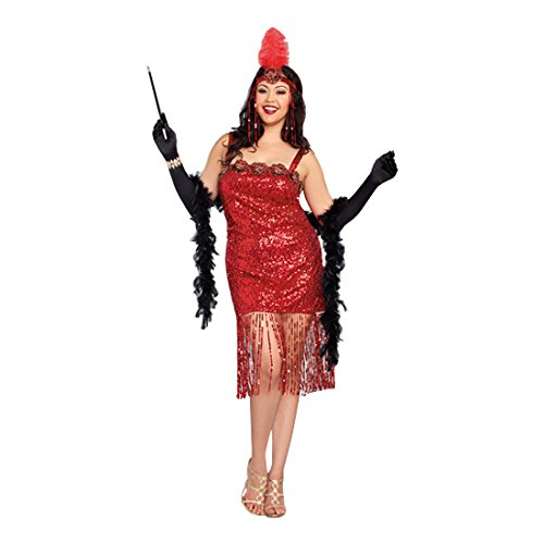 Dreamgirl Women's Plus-Size Ain't She Sweet Costume, Red, 1X/2X -