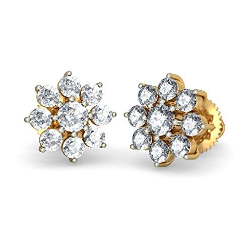 Or jaune 18K 0,37carat au total White-diamond (IJ | SI) Boucles d'oreille à tige