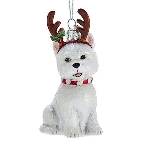 Terrier Glass Ornament - 9