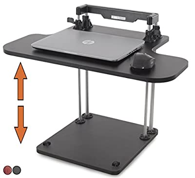 Stand Steady UpTrak Standing Desk - Instantly Convert Any Surface to a Stand Up Workstation (Single Level - Black)