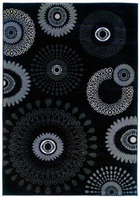 LR Resources Adana Charcoal Kaleidoscopic Rug 5'3