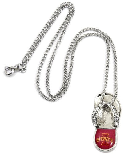 NCAA Iowa State Cyclones Crystal Flip Flop Necklace