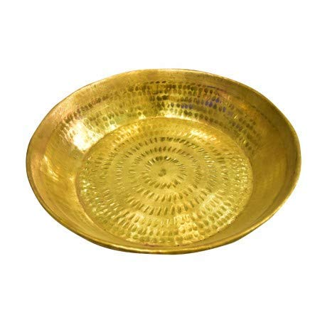 SATISFACTORY NATION Brass Parat Atta Maker Parat Dough Praat Pranat Dough Maker Dough Mixer 16 inches approx. by satisfactory nation (Image #2)