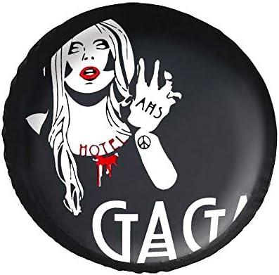 レディー ガガ Lady Gaga タイヤカバー タイヤ保管カバー 収納 防水 雨よけカバー 普通車・ミニバン用 防塵 保管 保存 日焼け止め 径83cm