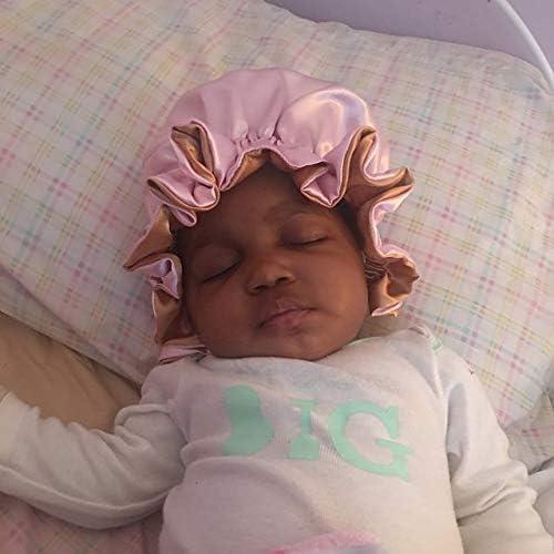 AKISS Reversible Satin Sleep Bonnet for Baby//Newborn//Infant//Toddler Mommy//Women
