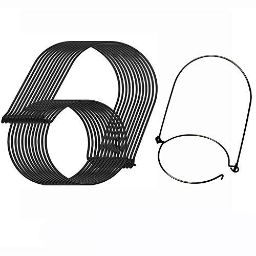 Aobik Mason Jar Hanger, 12 Pack Black Stainless Steel Wire Handles(Handle-Ease) Regular Mouth Mason Jar, Ball Pint Jar, Canning Jars, Best Jar Holder Hooks Hanging Handle, Set of 12, Black