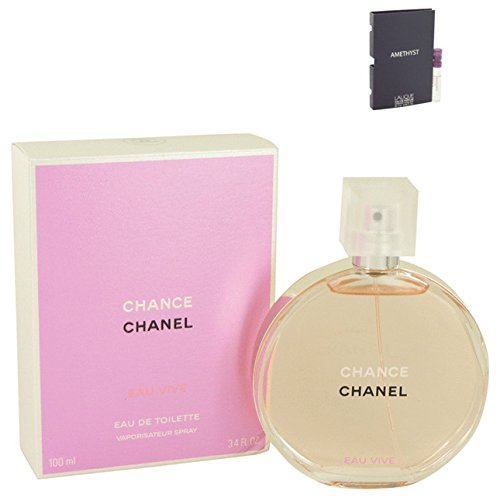 Chance Eau Vive Perfume C H A N E L For Women Eau De Toilette 3.4 oz. 100 ml. [WP] Free! Sample Perfume Lalique Amethyst 0.06 oz Vial - Perfume Samples Chanel