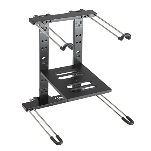 ah Stands SLT006B Folding Laptop Stand with Tray One Size Black