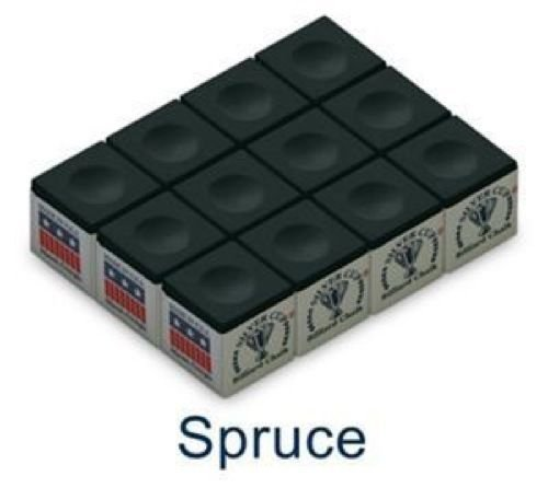 Pool Cue Chalk Box, Green, 12 Cubes ()