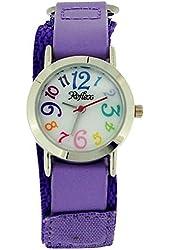 Reflex Kids Purple Velcro Fabric Strap Watch KID-0073