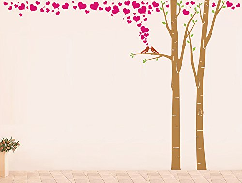 Lovely Birch Tree Pop Decors PT-0239-Vb Wall Decal and Sticker