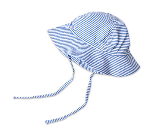 (Zutano Baby Girls' Sun Hat Candy Stripe, Periwinkle, 18m (12-18 months))