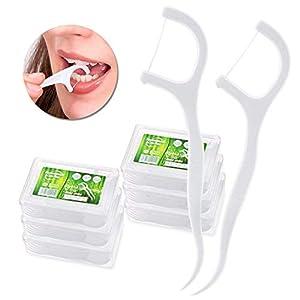 Hilo Dental – Meersee 180 piezas Seda Dental Palo Hilo Dental Pre-cortadas Seda de Dientes, Pack de 6 12