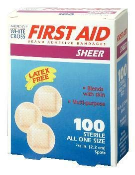 "1307033-2.2 cm (7/8"") - Sheer Spot Latex-Free Bandages, Sterile, Nutramax - Case of 2400"