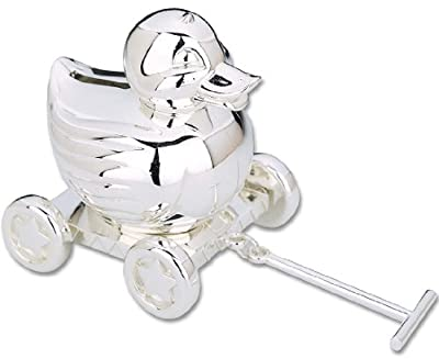 Reed Barton Silver Plate Duck Bank from Reed & Barton