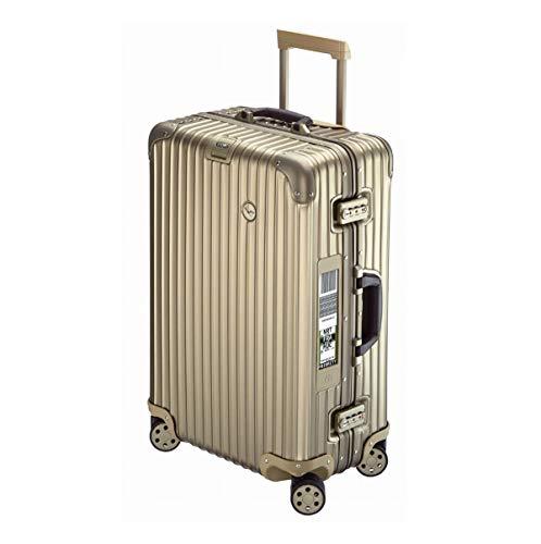RIMOWA Lufthansa Private Jet Collection suitcase 63.5L titanium Electronic Tag