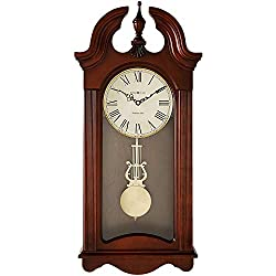 Howard Miller Malia Wall Clock 625-466 - Cherry Wood with Quartz & Single Chime Movement