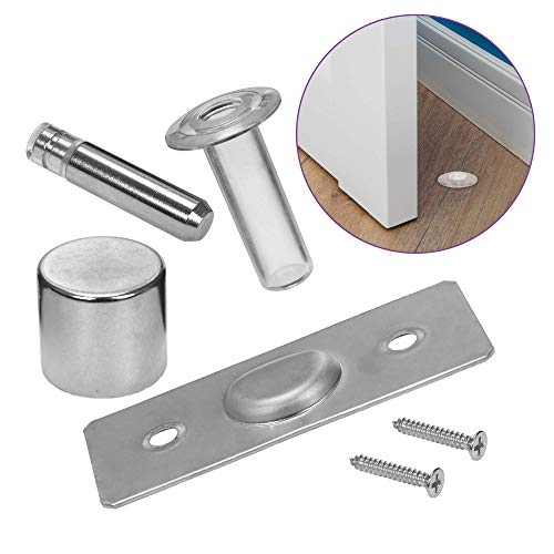 Fantom Magnetic Hidden Door Stop - Patented Concealed Stopper Does Not Protrude Out of Floor - Safe and Elegant Design- Easy to Install On Any Floor Surface or - Kit Door Stop