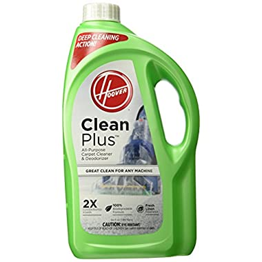 Hoover CLEANPLUS 2X 64oz Carpet Cleaner and Deodorizer, AH30330