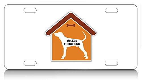 Makoroni - WALKER COONHOUND House Design, Aluminum License Plate, Auto SUV Truck Tag - Hound House