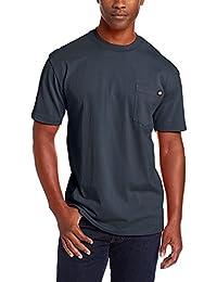 Men's Heavyweight Crew Neck Shirt, Dark Navy, 6XL Tall