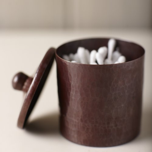 Native Trails Medium Cotton Ball and Swab Holder, Antique Copper Finish, 4-inches by Native Trails