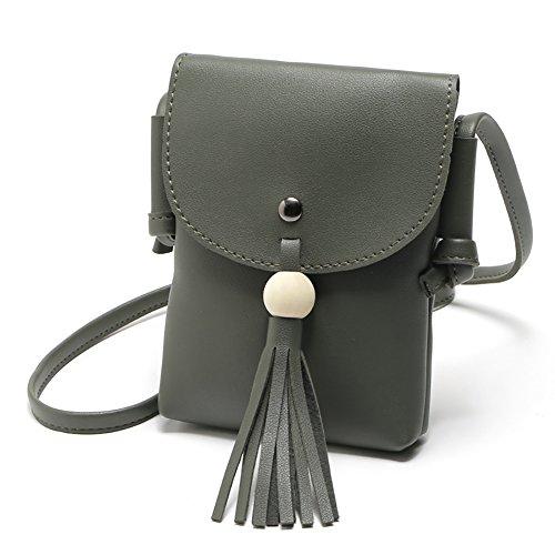 School Crossbody Bag Shoulder Green Tassel Pouch Satchel starlit Shopping Women Blackish Tote Fashion 1wqtz8