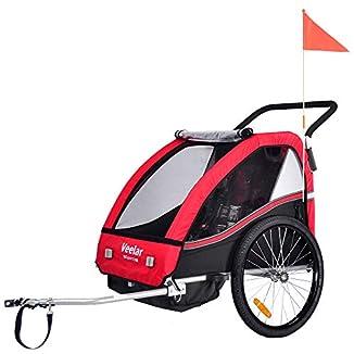 Remolque de bici para niños con kit de footing 2