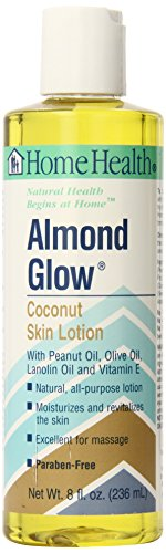 - Home Health Almond Glow Coconut Body Lotion - 8 fl oz - Skin Moisturizer & Massage Oil, Peanut, Olive & Lanolin Oils Plus Vitamin E- Non-GMO, Paraben-Free, Vegetarian