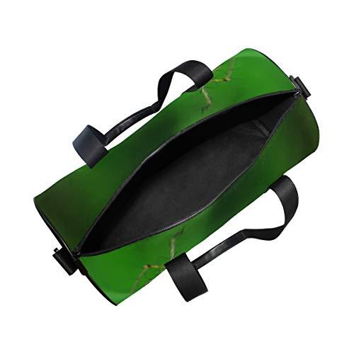 ae753297e800 Duffel Bag Spider Green Leaf Women Garment Gym Tote Bag Best Sports Bag for  Boys