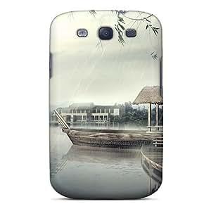 New Hq Japan Nature Rain Fall Tpu Case Cover, Anti-scratch Mialisabblake Phone Case For Galaxy S3