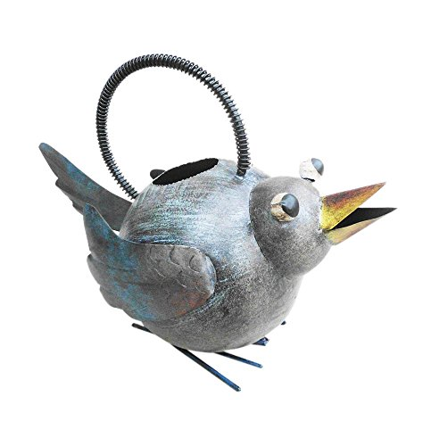 D-Art Collection Iron Watering Can, Bird