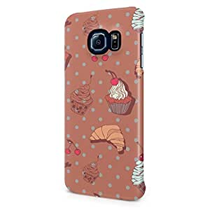 Sweet Chocolate Cupcakes Tumblr Print Hard Plastic Samsung Galaxy S6 Edge Phone Case Cover