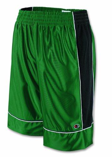 Champion Baseline Basketball Short - Large, Navy/Green