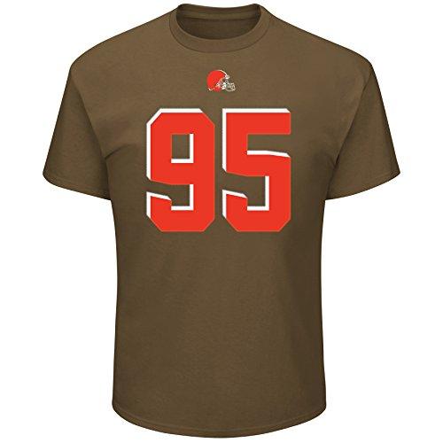 Cleveland Browns Myles Garrett Majestic Eligible Receiver Jersey T-Shirt (Large)