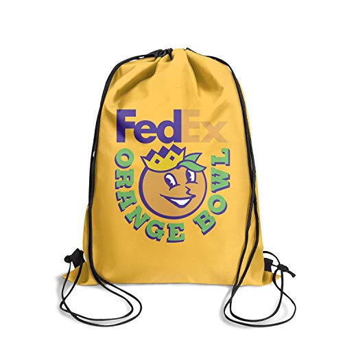 MAGGE Wake-cool-Forest-To-Face-Louisville-In-FedEx-Orange- Sports Drawstring Backpack Personalized Knapsack