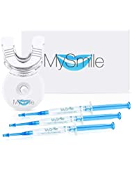 MySmile Home Teeth Whitening Kit, 10 Minute Express Fast Results for Teeth Whitening at Home, Non Sensitive Teeth Whitening Kit with LED Light, Carbamide Peroxide, 9 Treatments