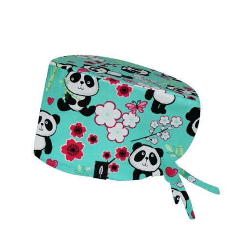 Surgical Scrub Cap SWEET PANDA for long hair