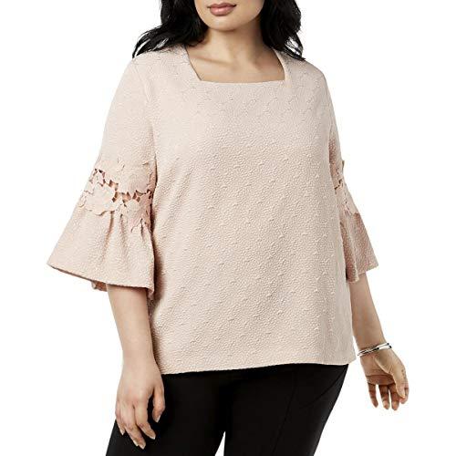 - Calvin Klein Plus Women's Plus Size Square Neck w/Lace Detail Blush 2X (US 20W)