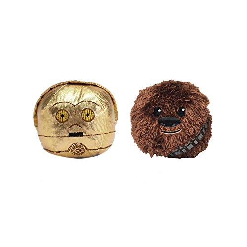 Hallmark Star Wars Fluffball Ornament 2 Pack - C3PO and Chewbacca -